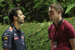 Daniel Ricciardo, Red Bull Racing with Paul di Resta, DTM Driver