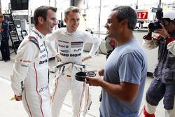Timo Bernhard, Romain Dumas, Porsche Team avec Juan Pablo Montoya