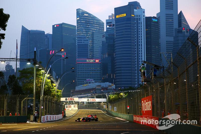 Atmosphäre am Stadtkurs in Singapur