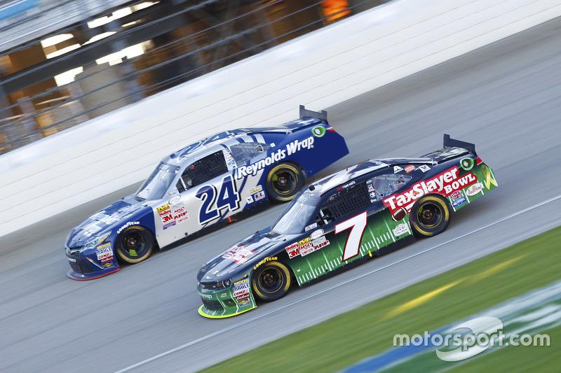 Regan Smith, JR Motorsports Chevrolet and Eric McClure, JGL Racing Toyota
