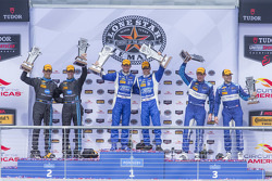 Prototype podium: Race winners #01 Chip Ganassi Racing Ford/Riley: Scott Pruett, Joey Hand, second p