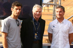 Mark Webber, Red Bull Racing, Max Mosley, FIA President and David Coulthard, Red Bull Racing