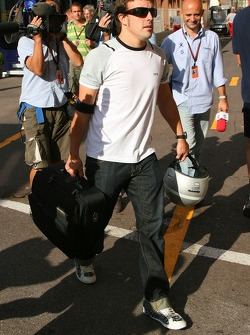 Fernando Alonso, McLaren Mercedes leave the track after the race