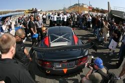 Team Modena Aston Martin DBR9 heads to scrutineering