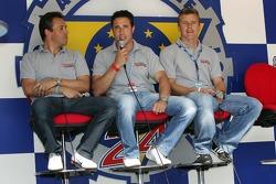Jean-Denis Deletraz, Iradj Alexander-David et Marcel Fassler