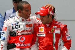 Pole Position 1st, Felipe Massa, Scuderia Ferrari, F2007, 2nd, Lewis Hamilton, McLaren Mercedes, MP4-22