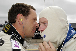 Butch Leitzinger and Rob Dyson have a pre-race discussion