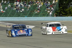 The two Brumos Porsche take the point during the pace laps as a tribute to their fallen leader