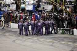 The Fedex Chevy crew celebrates Denny Hamlin's win