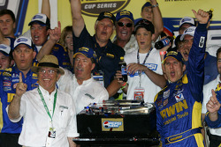 Victory lane: race winner Jamie McMurray celebrates