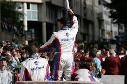 Jean-Philippe Belloc salutes the fans