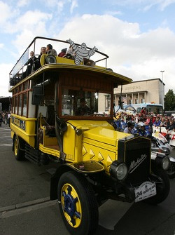 The traditional Michelin bus