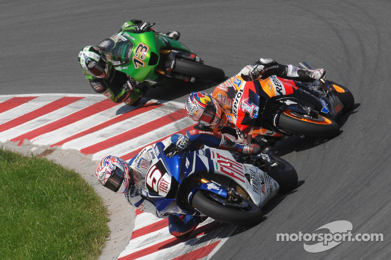 2007: Colin Edwards, Nicky Hayden dan Anthony West di Sachsenring