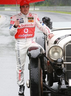 Fernando Alonso, McLaren Mercedes with a historic Mercedes S from 1927