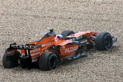 Markus Winkelhock, Spyker F1 Team goes out of the track during second practice