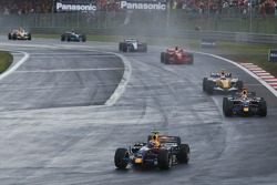 Mark Webber, Red Bull Racing RB3; David Coulthard, Red Bull Racing RB3
