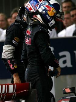 David Coulthard, Red Bull Racing; Mark Webber, Red Bull Racing