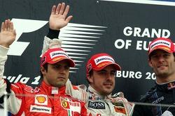 Podium: 1. Fernando Alonso, McLaren; 2. Felipe Massa, Ferrari; 3. Mark Webber, Red Bull Racing