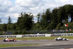 Robert Kubica,  BMW Sauber F1 Team and Ralf Schumacher, Toyota Racing