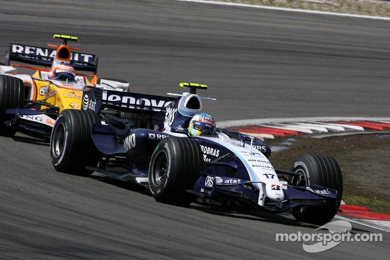 Alexander Wurz, Williams F1 Team, Heikki Kovalainen, Renault F1 Team