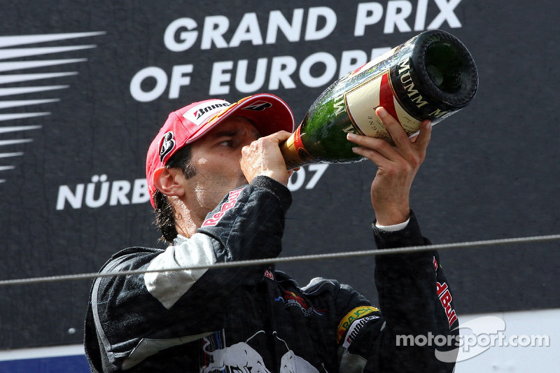Tercer lugar Mark Webber, Red Bull Racing
