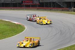 #7 Penske Motorsports Porsche RS Spyder: Romain Dumas, Timo Bernhard, #6 Penske Motorsports Porsche