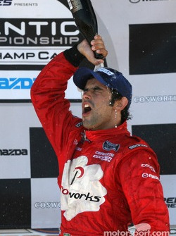 Podium: race winner Raphael Matos celebrates