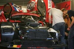 Belgian Racing team members at work