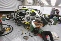 Aston Martin Racing BMS team members at work