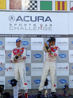 LMP1 Podium: class winners Emanuele Pirro and Marco Werner