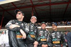 Eric van de Poele, Michael Bartels, Thomas Biagi and Pedro Lamy