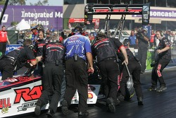 Clay Millican needs a push back to the starting block