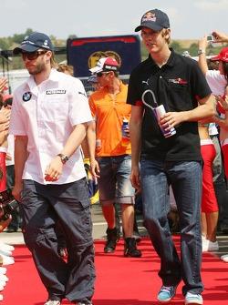 Nick Heidfeld, BMW Sauber F1 Team and Sebastian Vettel, Scuderia Toro Rosso