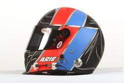 Arie Luyendyk Jr., driver of A1 Team Netherlands, helmet
