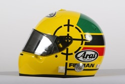 Ralph Firman, driver of A1 Team Ireland, helmet