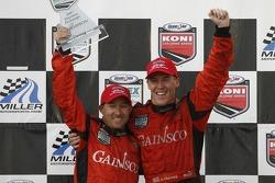 Championship podium: Grand Am Rolex Series DP champions Jon Fogarty and Alex Gurney