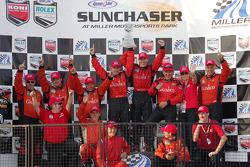 Championship podium: the Gainsco/ Bob Stallings Racing team