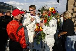 2007 Grand-Am Rolex Series DP champion Jon Fogarty and race winners Ryan Hunter-Reay and Jim Matthews