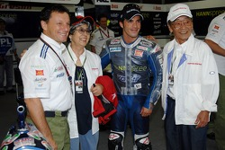 Marco Melandri and Fausto Gresini with guests