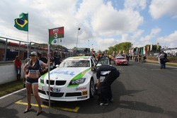 Augusto Farfus, BMW Team Germany, BMW 320si WTCC sur la grille