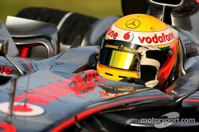 Ganador de la Pole Position, Lewis Hamilton, McLaren Mercedes