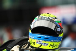 Jason Bright's helmet (Fujitsu Racing Ford Falcon BF)