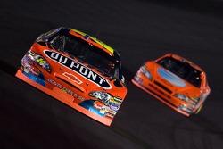 Jeff Gordon leads Jeff Burton