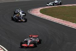 Fernando Alonso, McLaren Mercedes, Mark Webber, Red Bull Racing, Robert Kubica,  BMW Sauber F1 Team, Nick Heidfeld, BMW Sauber F1 Team