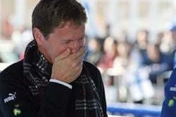 Malcolm Wilson celebrates win of Mikko Hirvonen
