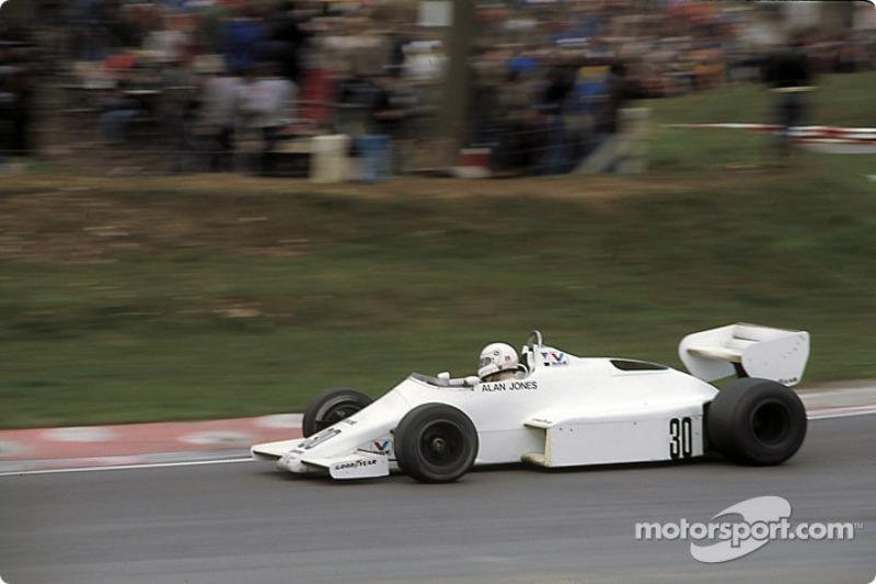 Alan Jones lors de la Course des Champions 1983