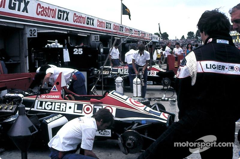 Área de pit de Ligier