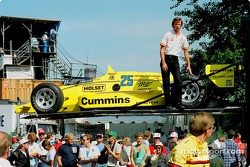 Al Unser Sr.'s Indy 500 Winning Penske March 86C with Speedway Wings