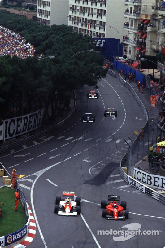 Pace lap: Ayrton Senna y Alain Prost