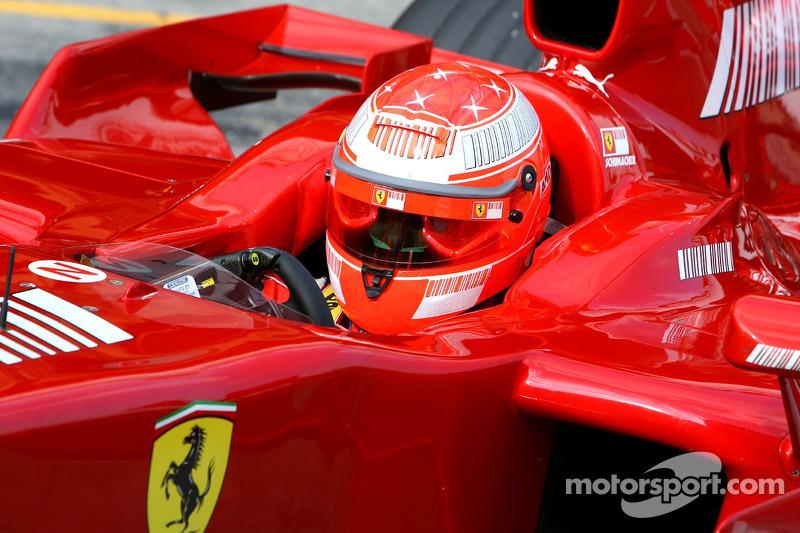 Міхаель Шумахер, тест-пілот, Scuderia Ferrari